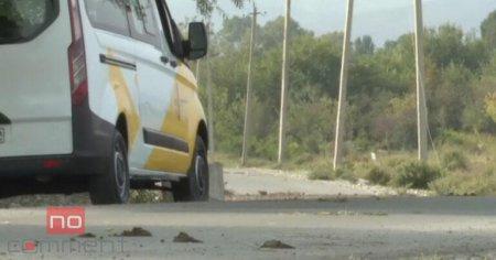 Ermənilər İTV-nin maşınına atəş açıb, avtomobil yanır